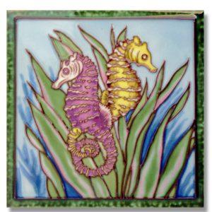 Seahorse Tile Trivet 1
