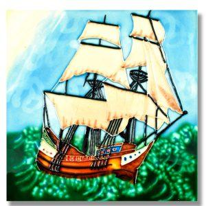 Ship Tile Trivet 1
