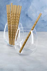 reusable bamboo drinking straws