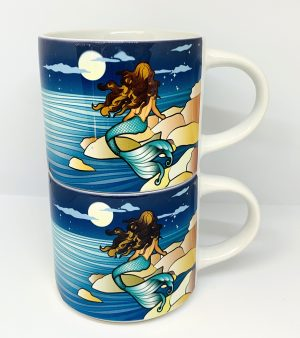 mermaid stackable coffee mug