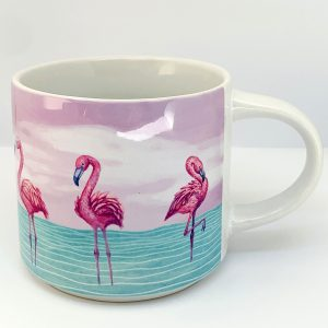 flamingo stackable mug