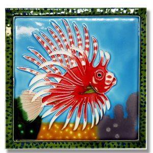 Lg Lionfish Tile Trivet 1