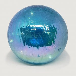 "Blue Gazing Globe Light - 6"" 1"
