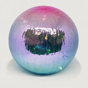 "Light Pink and Light Blue Gazing Globe Light - 6"" 1"