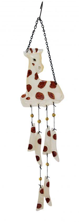 "Glass Giraffe Wind Chime - 27"" 1"