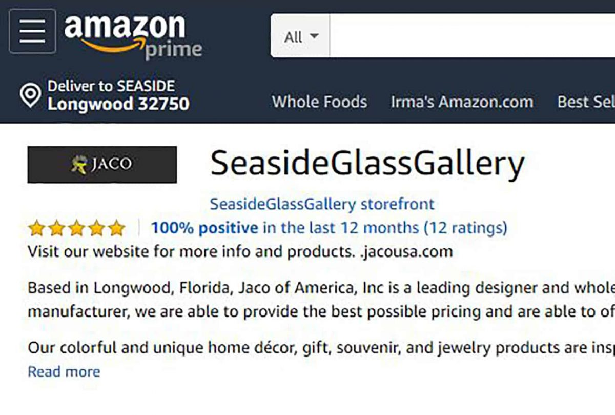 Seaside Glass Gallery Amazon Store